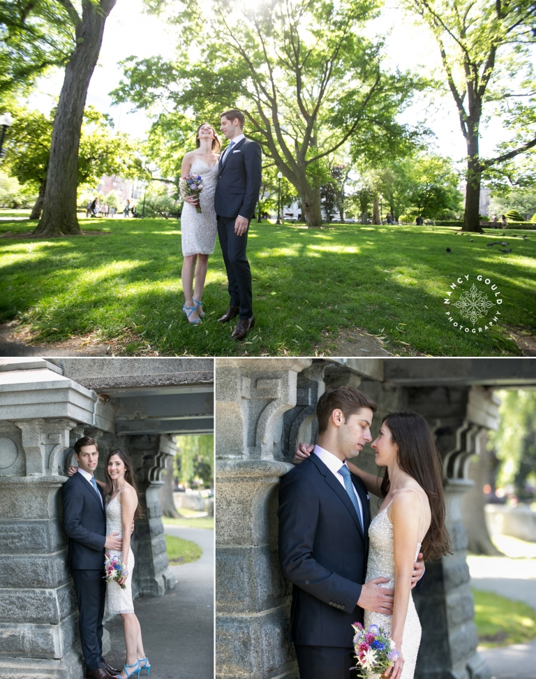 Wedding couple in Public Garden